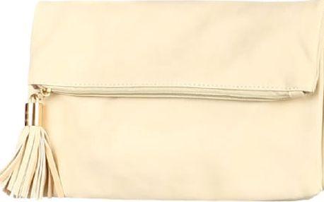 Dámské psaníčko se střapcem béžová
