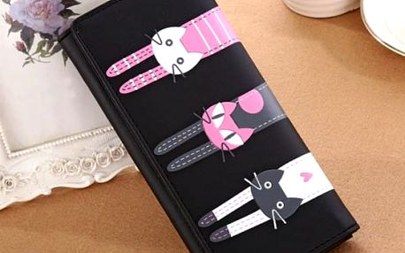 Dámská peněženka se třemi kočičkami - 6 barev