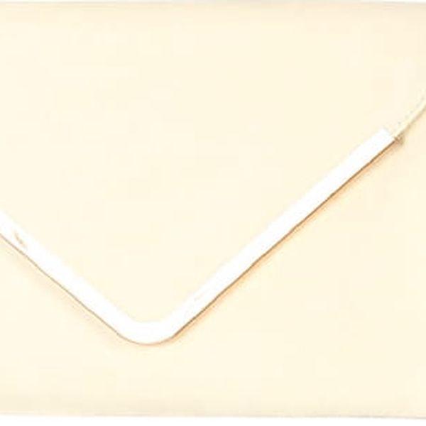 Malá kabelka/psaníčko se zlatým lemem krémová