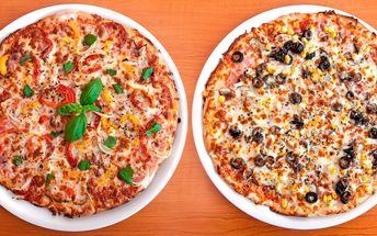 Pojďte na Itálii: 2 pizzy podle vašeho gusta
