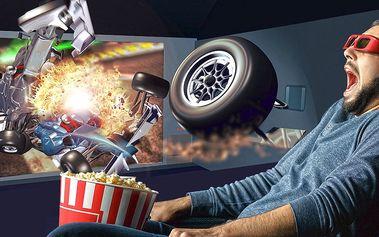 2 lístky na libovolný film v 5D kině Harfa