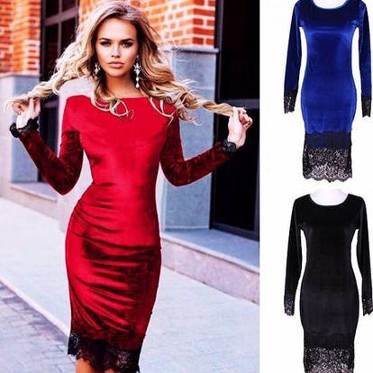 Elegantní šaty z umělého sametu Dream