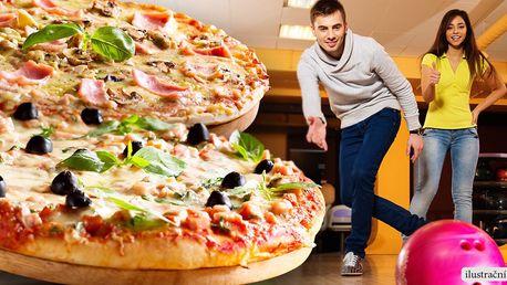 Dvě pizzy dle výběru a hodina na bowlingu