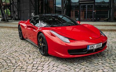 Jízda ve Ferrari 458 v Plzeňském kraji