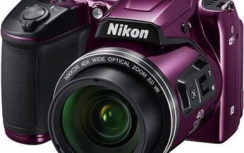 Digitální fotoaparát Nikon Coolpix B500 fialový
