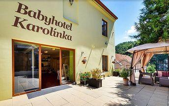 3denní wellness pobyt v Baby hotelu Karolínka ve Vranově nad Dyjí pro 2 + 1 dítě