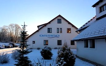 Zima v Hotelu Orsino **** na břehu Lipna s neomezeným wellness a polopenzí pro dva