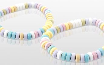 Balíček jedlých náhrdelníků z lipových bonbonů