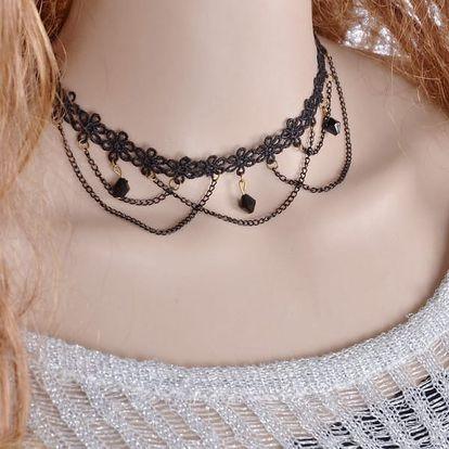 Retro choker náhrdelník