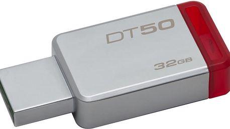 Kingston DataTraveler 50 - 32GB, červená - DT50/32GB
