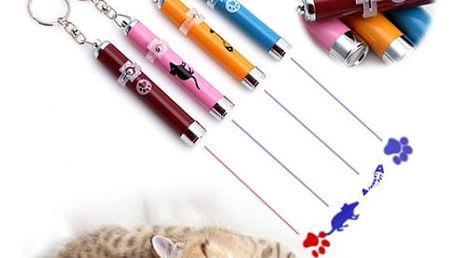 Zábavná kočičí hračka LED myš