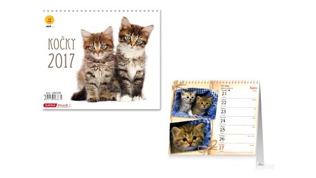 Mini kalendář 2017 - Kočky - dodání do 2 dnů