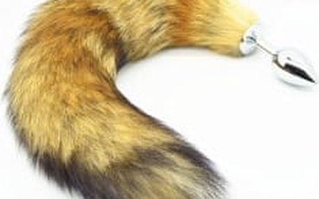 kovový anální kolík s ocasem obecné lišky