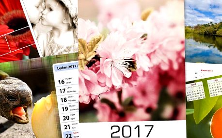 Kalendáře na rok 2017 z vlastních fotografií