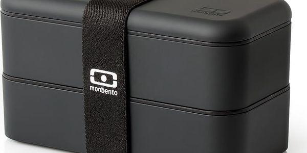 Černý obědový box Monbento