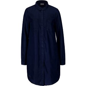 Tmavě modrá delší košile Vero Moda Nanna