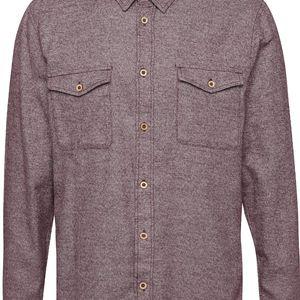 Fialová žíhaná košile s kapsami Burton Menswear London