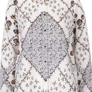 Krémová vzorovaná košile Vero Moda Lucypol