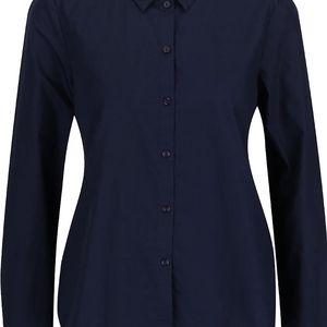 Tmavě modrá košile s volánkem na zádech Vero Moda Fraya