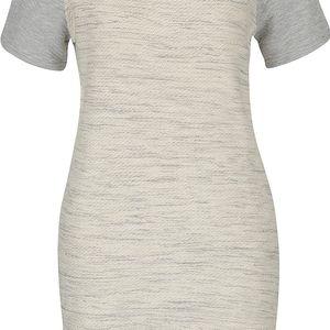 Šedo-krémové žíhané šaty Miss Selfridge