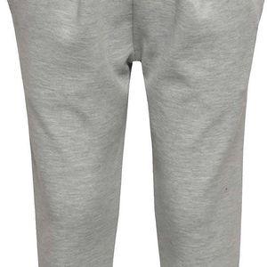 Šedé elastické holčičí kalhoty se sklady name it Line