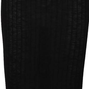 Černá sukně s rozparkem Broadway Sevi