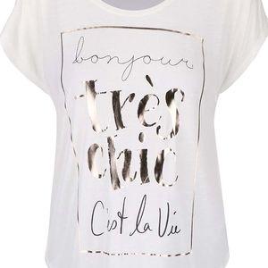 Krémové tričko Vero Moda Stine