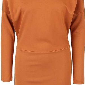 Světle hnědé šaty s průstřihem na zádech Vero Moda Kelly