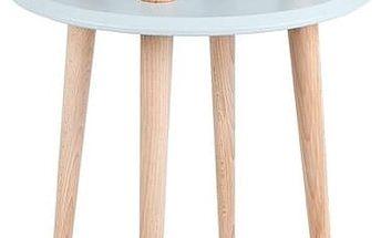 Konferenční stolek UFO Ø 45 cm, světle šedý - doprava zdarma!