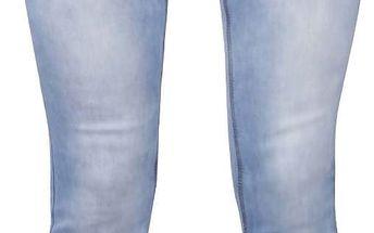 Světle modré džíny s vyšisovaným efektem a nízkým pasem Haily´s Catty