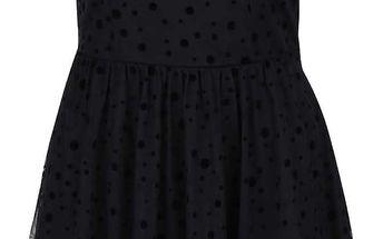 Černé šaty s puntíky ONLY Lajka