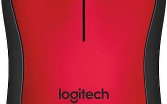 Logitech M220 Silent, červená - 910-004880