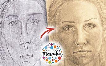 Víkendový kurz kresby dle skutečnosti a autoportrétu od Atelieru Mozaika po celé ČR