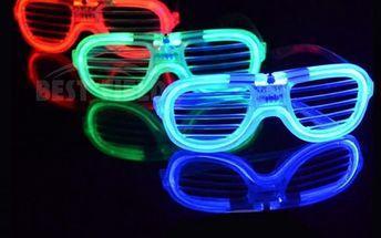 Brýle s LED osvětlením na večírky - 4 barvy