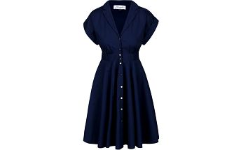 Tmavě modré propínací šaty Closet