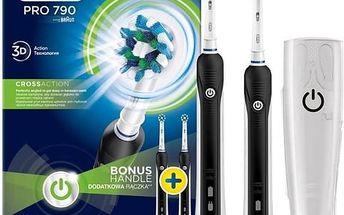 Zubní kartáček Oral-B Pro790 CrossAction černý/bílý + Doprava zdarma