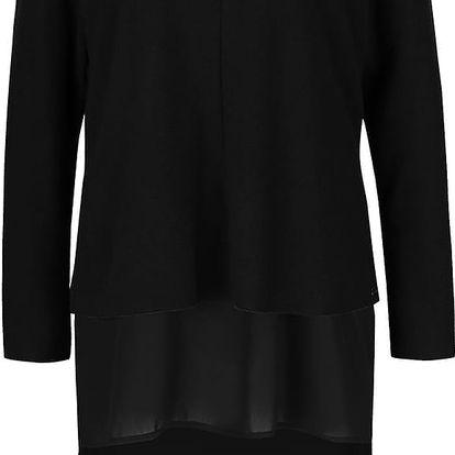 Černý svetr s všitou dlouhou halenkou VERO MODA Isla