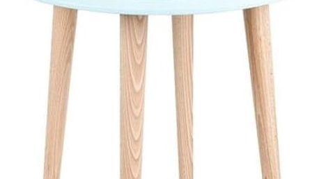 Světle tyrkysový konferenční stolek Ragaba UFO, Ø 45 cm - doprava zdarma!