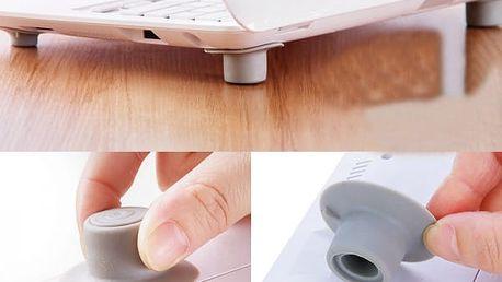Protiskluzové podložky pod notebook - 4 kusy - dodání do 2 dnů