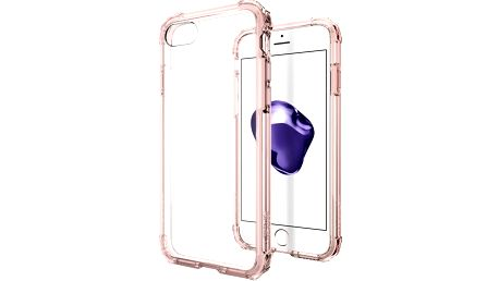 Spigen Crystal Shell pro iPhone 7, rose crystal - 042CS20308