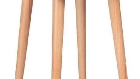 Konferenční stolek UFO Ø 45 cm, bílý - doprava zdarma!