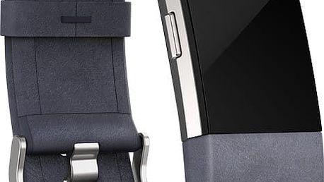 Fitbit Charge 2 Accessory Band kožený L, indigo - FB160LBIGL