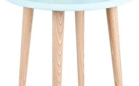 Světle tyrkysový konferenční stolek Ragaba UFO,Ø45 cm - doprava zdarma!