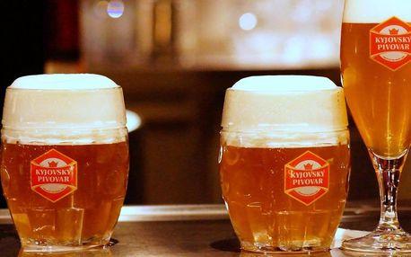 Pobyt v Kyjovském pivovaru s polopenzí i neomezenou konzumací piva, chmelovou lázní a prohlídkou pivovaru