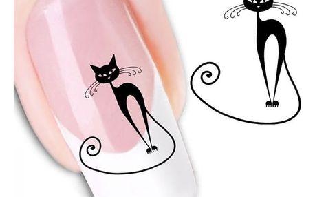 Nálepky na nehty s kočkami XF1442 - dodání do 2 dnů
