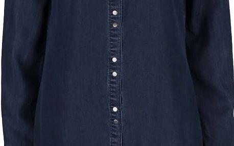 Tmavě modrá dlouhá džínová košile ONLY Julia