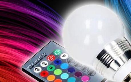 Barevná LED žárovka s ovladačem