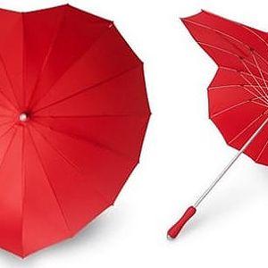 Romantický deštník - srdce