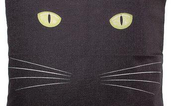 Povlak na polštář s motivem černé kočky