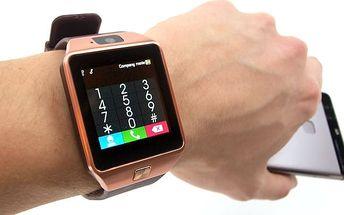 Bluetooth inteligentní náramkové hodinky Smartwatch DZ09 v různých barvách